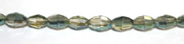100pcs x 5mm*4mm Facted rice glass beads -- yellow / green -- 3005578